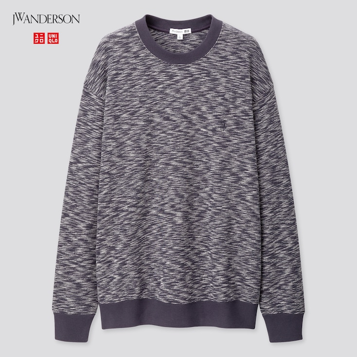 Men Long-Sleeve Sweatshirt (Jw Anderson), Dark Gray, Large