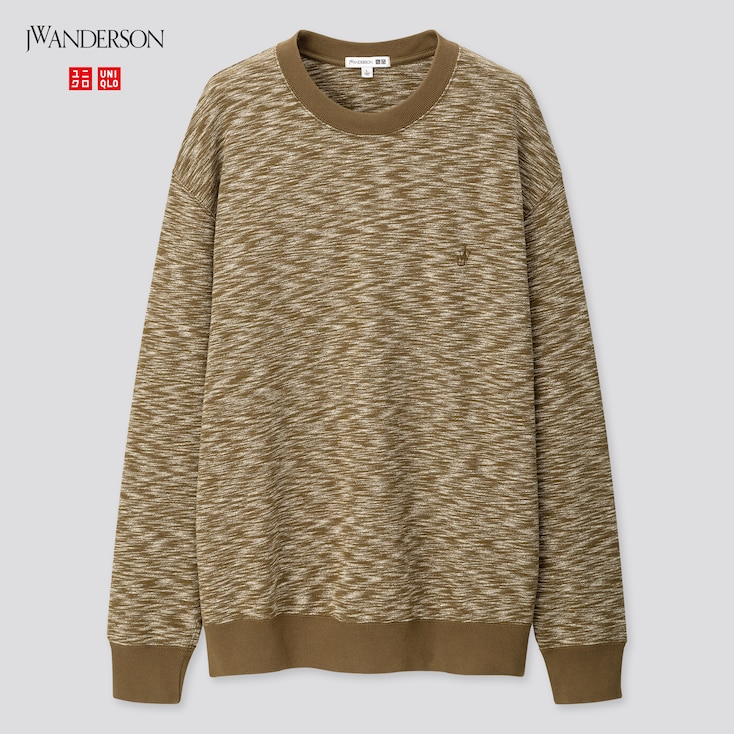 Men Long-Sleeve Sweatshirt (Jw Anderson), Olive, Large