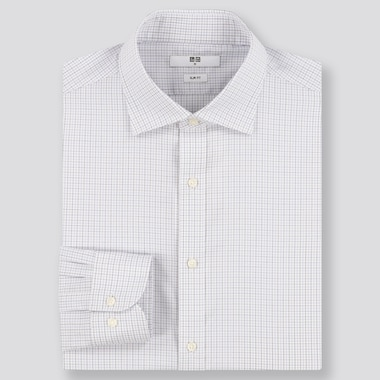 Men Easy Care Slim Fit Checked Shirt (Semi-Cutaway Collar)