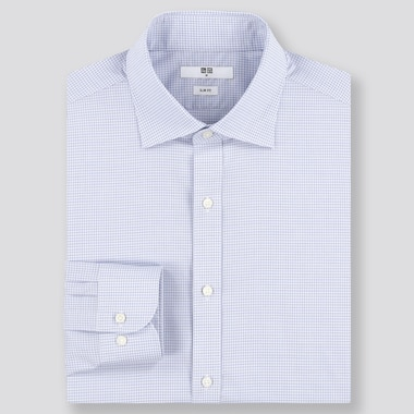 Men Easy Care Slim Fit Checked Shirt (Regular Collar)