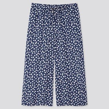 Women Joy Of Print Relaco 3/4 Length Shorts, Navy, Medium