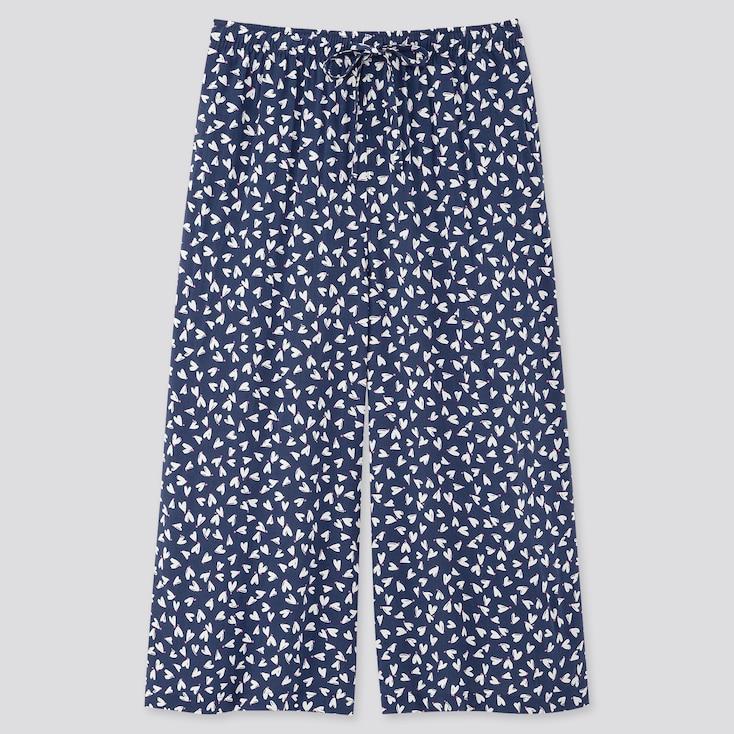Women Joy Of Print Relaco 3/4 Length Shorts, Navy, Large