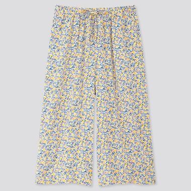 Women Joy Of Print Relaco 3/4 Length Shorts, Off White, Medium