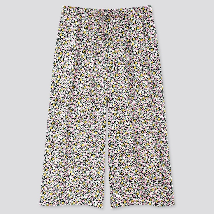 Women Joy Of Print Relaco 3/4 Length Shorts, Black, Large