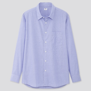 Men Extra Fine Cotton Broadcloth Long-Sleeve Shirt (Online Exclusive), Blue, Medium
