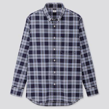 Herren kariertes Hemd aus extra-feiner Baumwolle