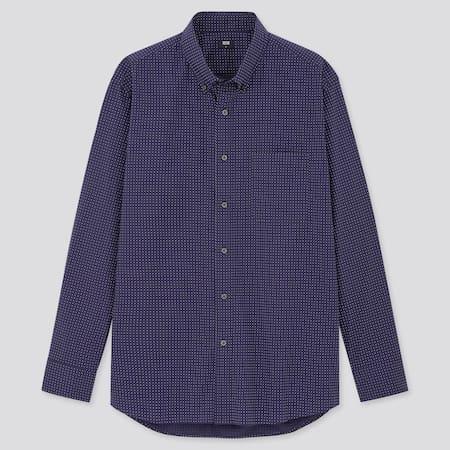 Men Extra Fine Cotton Broadcloth Regular Fit Shirt (Button-Down Collar)