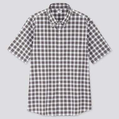 Men Extra Fine Cotton Broadcloth Short-Sleeve Shirt (Online Exclusive), Gray, Medium