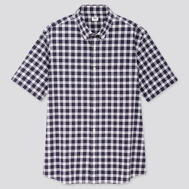 Herren kariertes Hemd aus extra-feiner Baumwolle mit Button-Down-Kragen