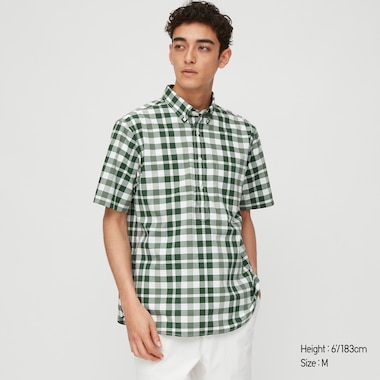 Men Extra Fine Cotton Pullover Broadcloth Short-Sleeve Shirt (Online Exclusive), Green, Medium