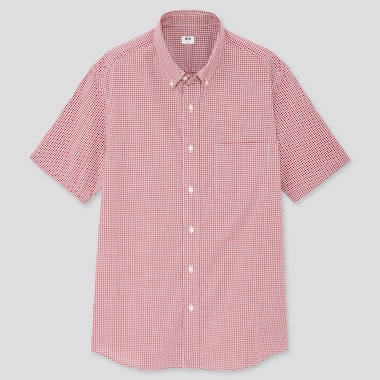 Men Extra Fine Cotton Broadcloth Short-Sleeve Shirt (Online Exclusive), Red, Medium
