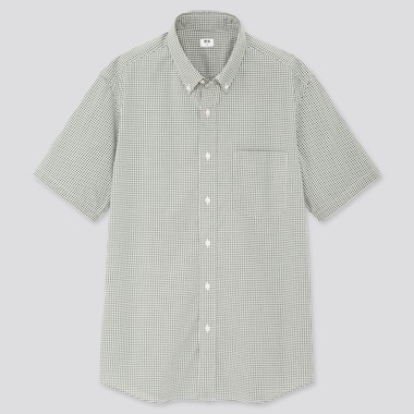 Men Extra Fine Cotton Broadcloth Short-Sleeve Shirt (Online Exclusive), Green, Medium