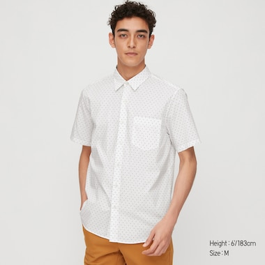 Men Extra Fine Cotton Short-Sleeve Shirt (Online Exclusive), White, Medium
