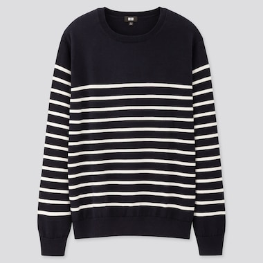 Men 100% Supima Cotton Crew Neck Jumper