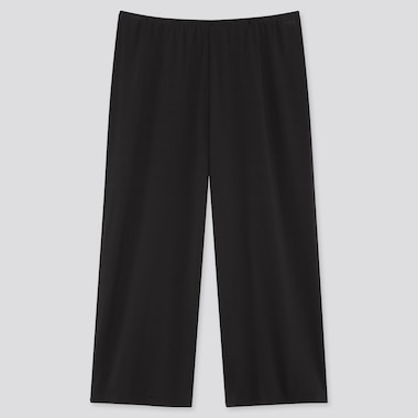 Women Airism Cropped Petti Pants, Black, Medium