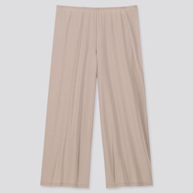 Women Airism Cropped Petti Pants, Khaki, Medium