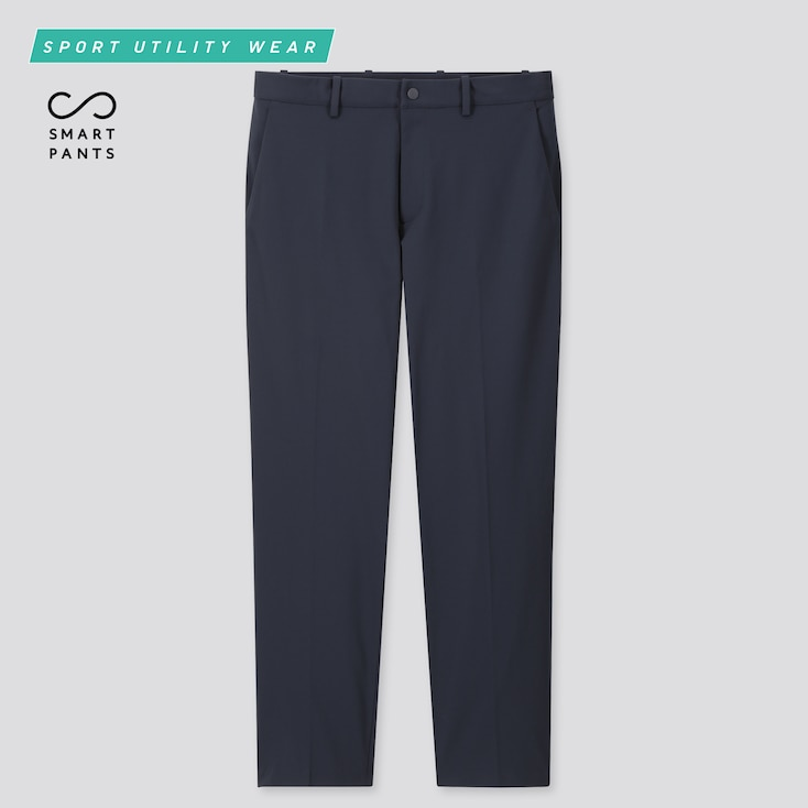 Men Ezy Ankle-Length Pants (Online Exclusive), Navy, Large