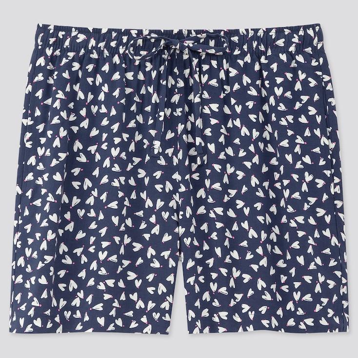 Women Joy Of Print Relaco Shorts, Navy, Large
