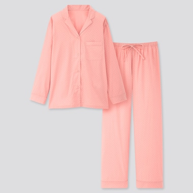 Women Soft Stretch Long-Sleeve Pajamas (Online Exclusive), Pink, Medium
