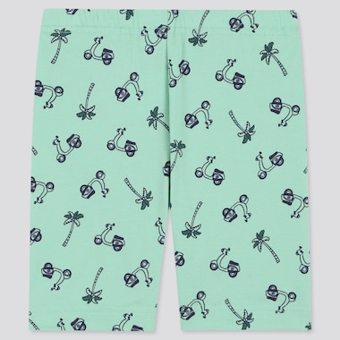 Baby Dry Half Leggings, Green, Medium
