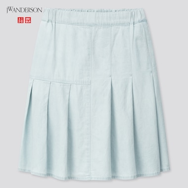 Girls JW Anderson Tucked Flared Skirt