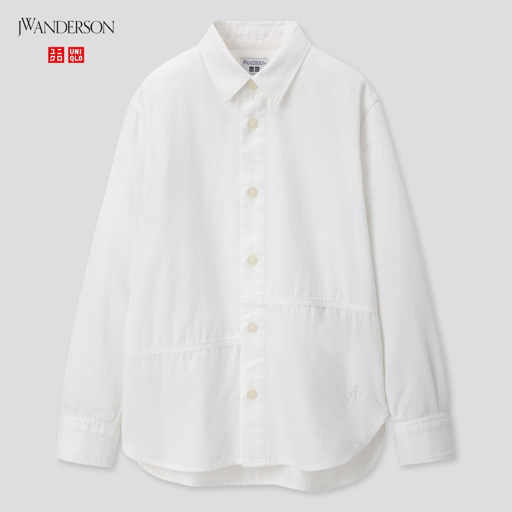 Kids Long-Sleeve Shirt (Jw Anderson), Off White, Large