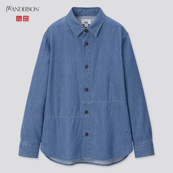 Kids Long-Sleeve Shirt (Jw Anderson), Blue, Large