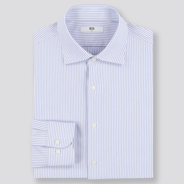 Men Easy Care Comfort Regular Fit Striped Shirt (Semi-Cutaway Collar)