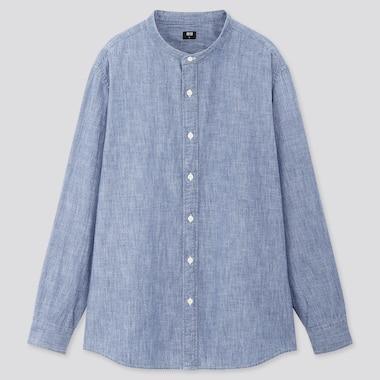 Men Chambray Shirt (Grandad Collar)
