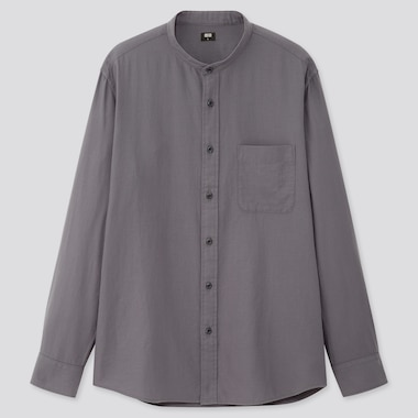 Men Soft Twill Regular Fit Shirt (Grandad Collar)