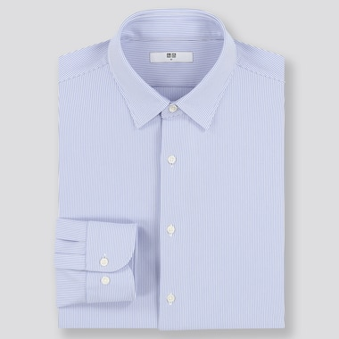 Men Easy Care Comfort Regular Fit Striped Shirt (Regular Collar)