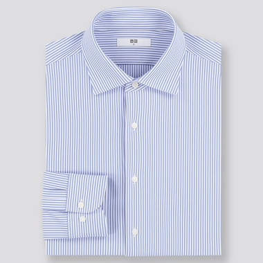 Men Easy Care Comfort Slim Fit Striped Shirt (Semi-Cutaway Collar)