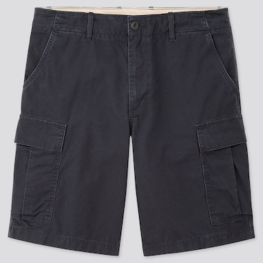 Men Cargo Shorts, Navy, Medium