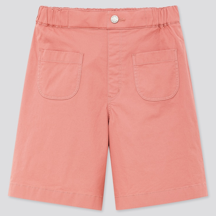 Kids Ultra Stretch Half Pants, Pink, Large
