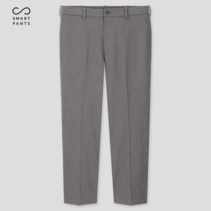 Men Smart 2-Way Stretch Ankle-Length Pants (Tall) (Online Exclusive), Gray, Large