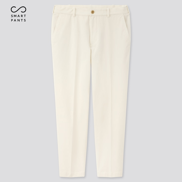 Men Smart 2-Way Stretch Cotton Ankle-Length Pants (Tall) (Online Exclusive), Off White, Large