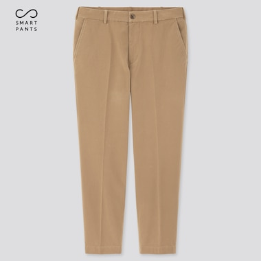 Men Ezy 2-Way Stretch Cotton Ankle-Length Pants, Beige, Medium