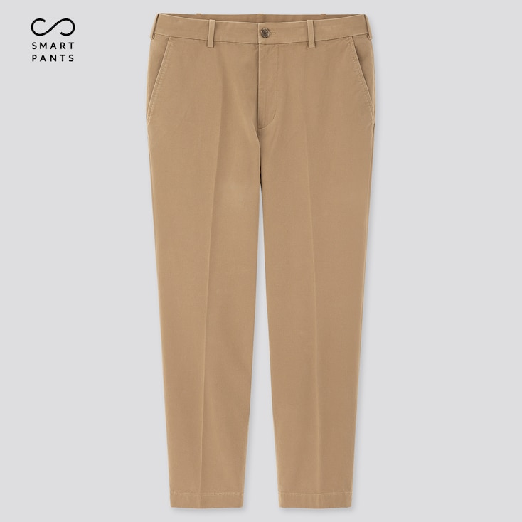 Men Smart 2-Way Stretch Cotton Ankle-Length Pants (Tall) (Online Exclusive), Beige, Large