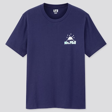 Nippon Miyage Ut (Short-Sleeve Graphic T-Shirt), Navy, Medium