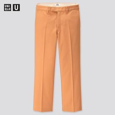 Women U Straight Ankle Pants, Orange, Medium