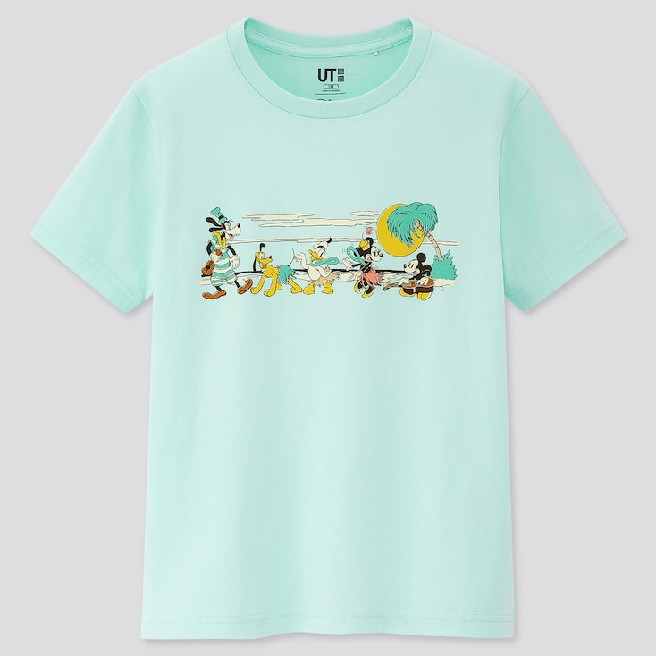 Kids Mickey Aloha Ut (Short-Sleeve Graphic T-Shirt), Green, Large
