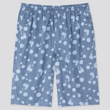 Men Light Cotton Easy Shorts (Online Exclusive), Blue, Medium