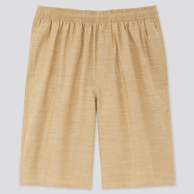 Men Light Cotton Easy Shorts (Online Exclusive), Beige, Medium