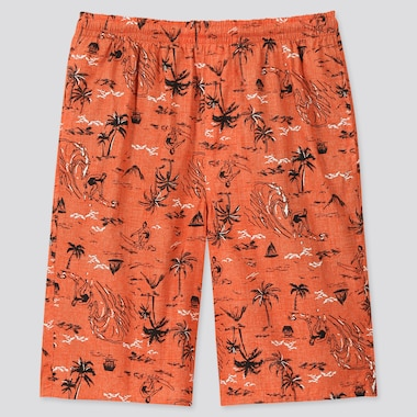 Men Light Cotton Easy Shorts (Online Exclusive), Orange, Medium