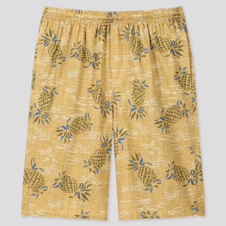 Men Light Cotton Easy Shorts (Online Exclusive), Khaki, Large