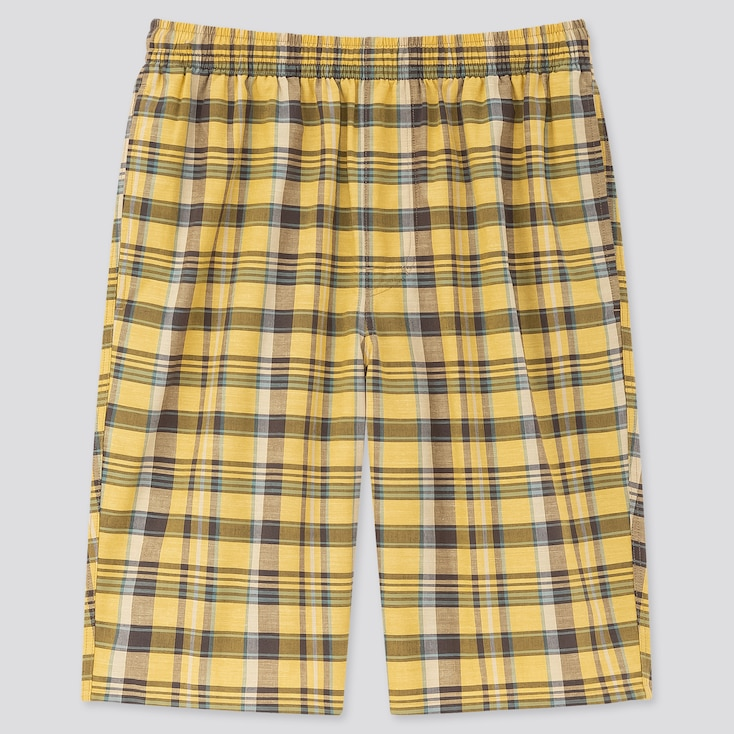 Men Light Cotton Easy Shorts (Online Exclusive), Yellow, Large