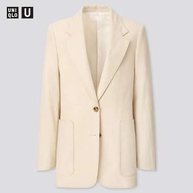Women U Jersey Tailored Jacket, Natural, Medium