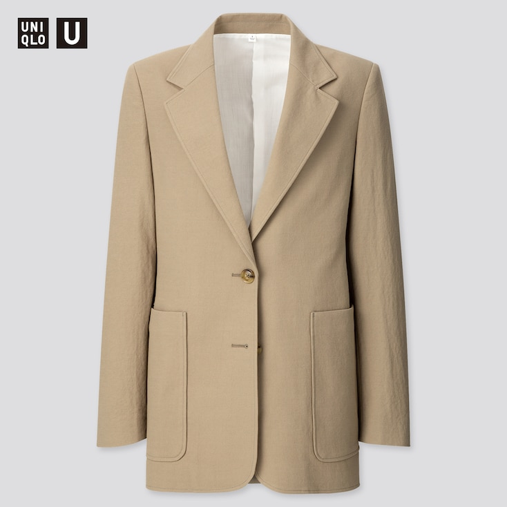 Women U Jersey Tailored Jacket, Olive, Large