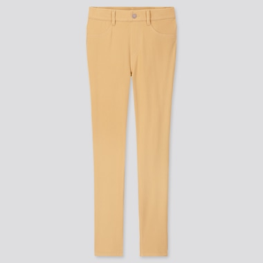 WOMEN ULTRA STRETCH LEGGINGS PANTS (ONLINE EXCLUSIVE), YELLOW, medium