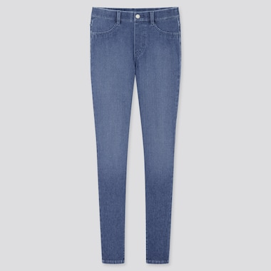 Women Ultra Stretch Denim Leggings Pants (Tall) (Online Exclusive), Blue, Medium